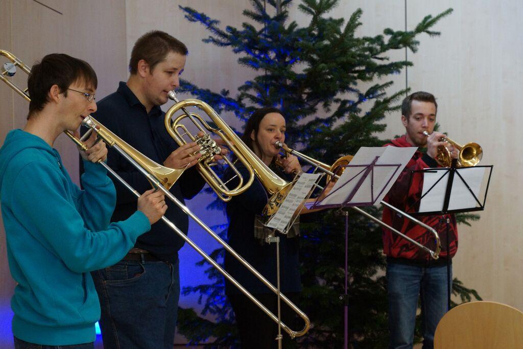 Instumentalmusik bei Weihnachtsgottesdienst